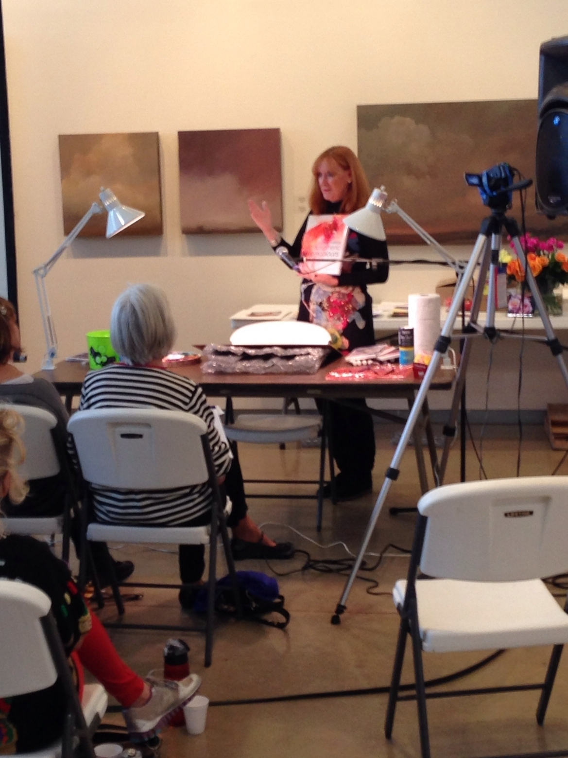 Jean Haines Giving Info on Watercolor her  Technique