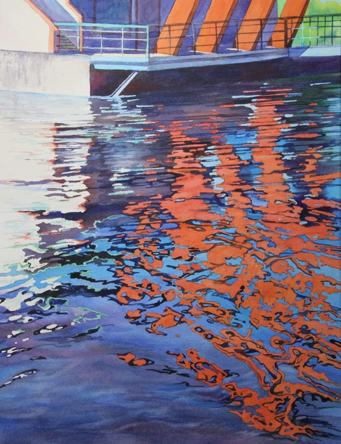 "DIANE FECHENBACH  "" RED REFLECTIONS"""